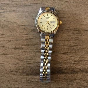Citizen silver/gold watch
